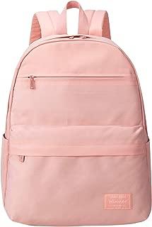 El-fmly Cute Backpack for Teen Girls and Boys Lightweight School Bookbag for 15.6 Inch Laptop Waterproof Travel Shoulder Bag Pink