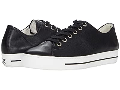 Paul Green Ally Sneaker (Black Leather) Women