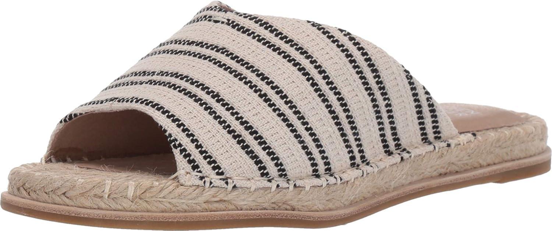 Eileen Fisher Women's Milly Espadrille Slide Sandals (Natural/Black, numeric_6)