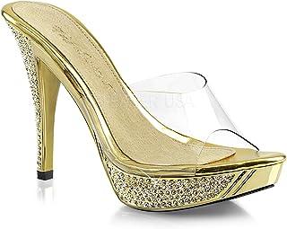 ae444e249cc Amazon.com  Clear - Slides   Sandals  Clothing