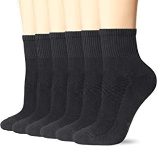 +MD 6 Pack Womens and Mens Smell Control Rayon from Bamboo Ankle Socks Cushioned Sole Quarter Casual Socks