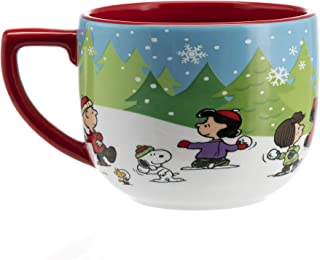 Hallmark 6MJC3026 One Oversized Snoopy Peanuts Mug, Extra Large, Re, White, Blue, Green