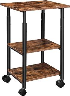 HOOBRO Support d'Imprimante, Chariot Mobile à 3 Niveaux, Étagère à roulettes, 48 x 40 x 76 cm, Facile à Installer, Style I...