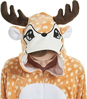 Christmas Family Matching Pajamas Adult Kid Deer Animal Fleece Onesies Pajamas  Cartoons Costumes Women Men Girls 6d42f9f19