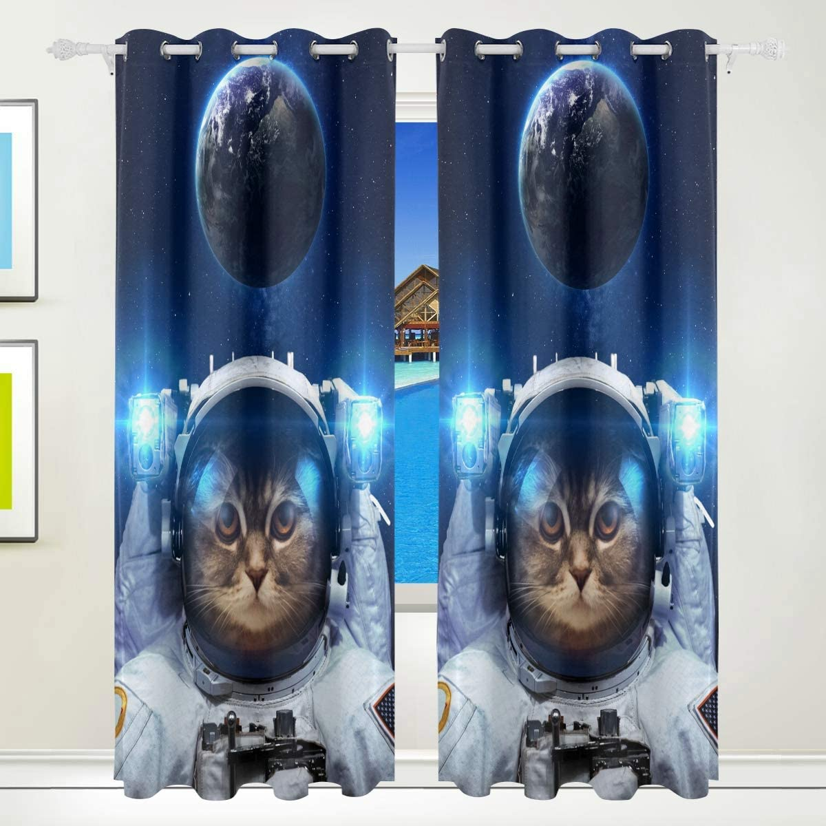 Full Blackout Energy Efficient Grommet Animal Max 82% OFF Ranking TOP20 Panel Cart Curtain