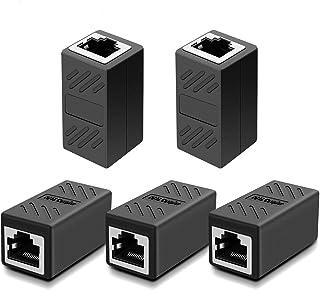RJ45 Ethernet Koppelaar, Netwerkkoppelaar, voor Cat7/Cat6/Cat5e/cat5 Ethernet-kabel Extender Connector - Vrouwelijk, Zwart...