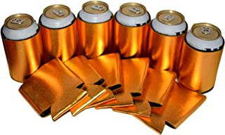 Beer Drink Blank Can Coolers - Blank Beer,Soda Coolies Sleeves | Soft,Insulated Coolers | 30 Colors | Perfect For DIY Projects,Holidays,Events (12, Metallic Gold)