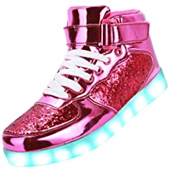 2adafb518b24 Odema Unisex LED Shoes High Top Breathable Sneakers Light Up ..