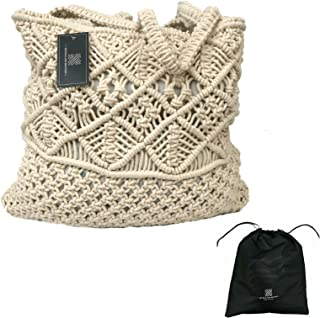 Textile and Beyond latest macrame men women stylish pure cotton boho fancy sling hand tote bag trendy shoulder branded pur...