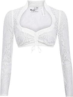 MarJo Trachten Damen Trachten-Mode Dirndlbluse Becca-Celina in Weiß traditionell