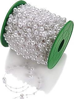 Kristall Girlande 1 m Ø 18 und 30mm Kristall Perle Tischschmuck Perlengirlande