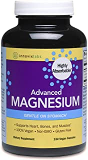 InnovixLabs Advanced Magnesium, 150 Capsules, High Absorption Magnesium Malate & Magnesium Glycinate, Highly Bioavailable ...