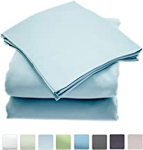 Callista Queen Size Bedding Sets- 100% Cotton -Extra Soft Sateen-Deep Pocket - 400 Thread Count Easy Fit, Breathable and Cooling Sheets -Luxury Queen 4 Pc Bed Set - Light Blue