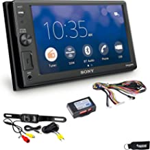 Sony XAV-AX1000 Compatible with CarPlay Bluetooth Receiver (No CD) with Rear Camera & Steering Wheel Interface