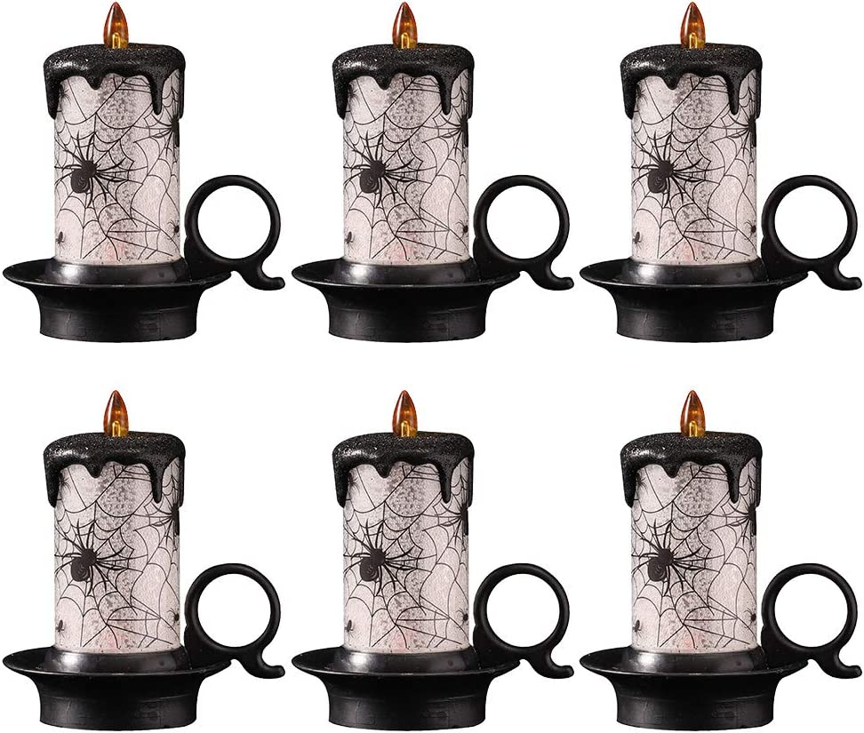 FRCOLOR 6PCS Halloween Fixed price for sale Candle Light LED Lamp Night Mail order
