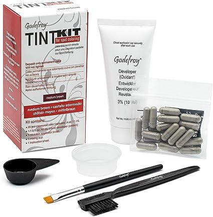 Godefroy - kit de tinte para Cejas o barba – Juego de colores para Profesionales, un paquete (20 unidades)
