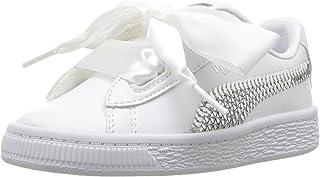 PUMA Kids' Basket Heart Bling Sneaker
