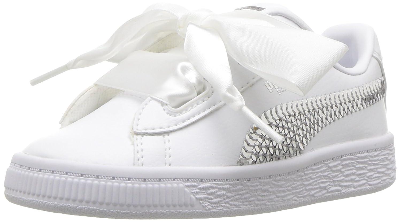oveja Tecnología Violín  Buy PUMA Kids' Basket Heart Bling Sneaker at Amazon.in
