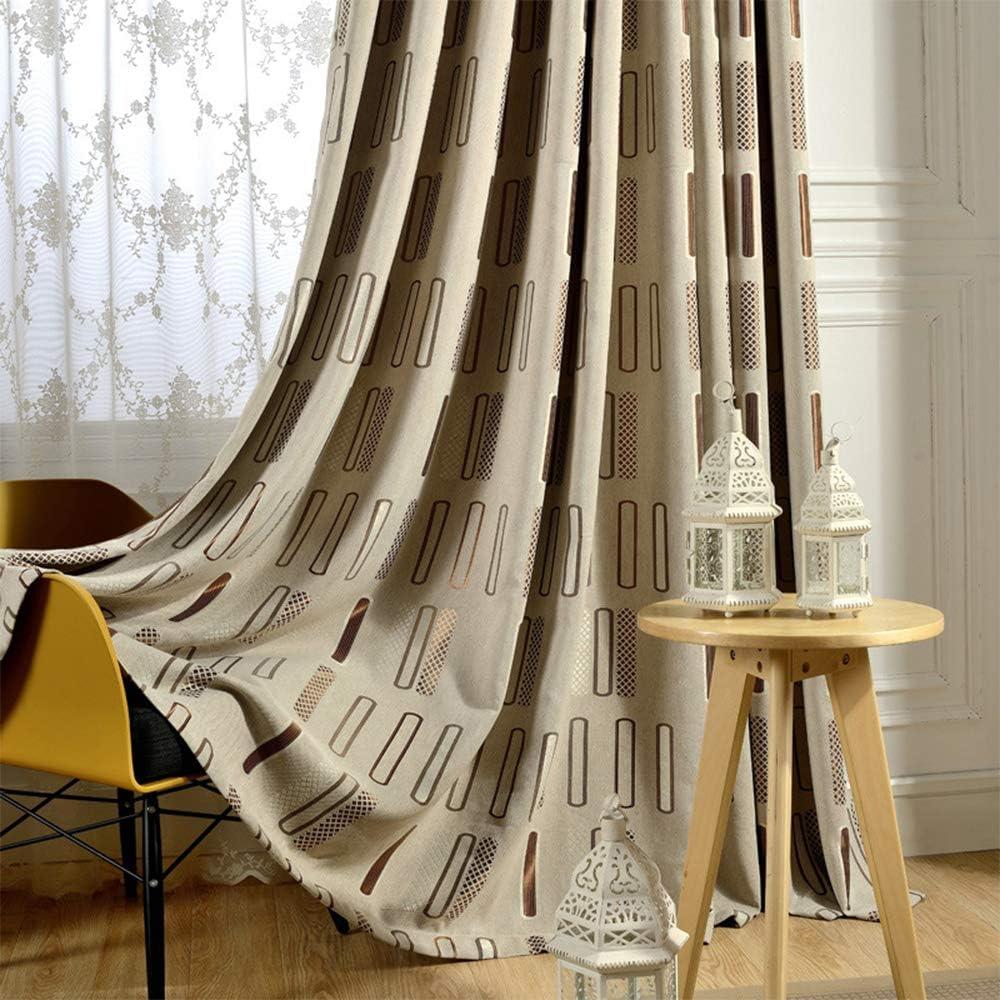 KMSG Brown 今ダケ送料無料 Geometric Pattern Polyester Design 本物 Jacquard Curtains