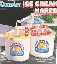 Donvier Chillfast, Ice Cream Maker, 1 Quart, Pink Trim