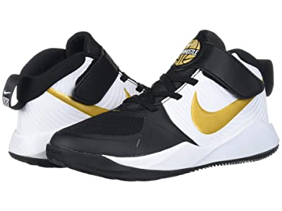 Nike Kids Team Hustle D 9 (Little Kid) (Black/Metallic Gold/White) Kids Shoes