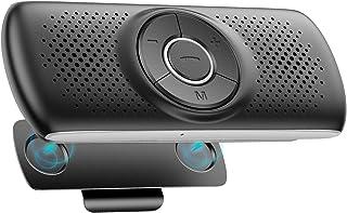 AGPTEK Bluetooth 4.2 Car Speakerphone, Wireless Hands Free Car Kit with Visor Clip, 3W Loud Speaker, Built-in TF Card Slot...