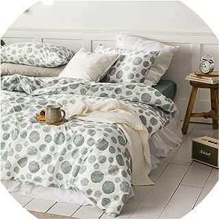 sensitives Leaves Print Sheet Pillowcase and Duvet Cover Cotton Bedlinen Twin Double Queen King Size Bedding Set,20192986,RUeurope 200x220