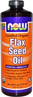 NOW Foods - Flax Seed Oil Organic Non-GE - 24 oz.