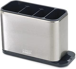 Joseph Joseph 85132 Surface Cutlery Drainer Stainless Steel Organizer Caddy Holder Drying Basket Kitchen, Silver