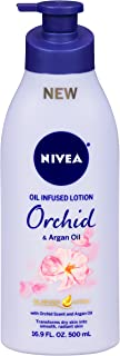 NIVEA Orchid and Argan Oil Infused Body Lotion - 24 Hour Moisture for Dry Skin 16.9 fl. oz. Pump Bottle