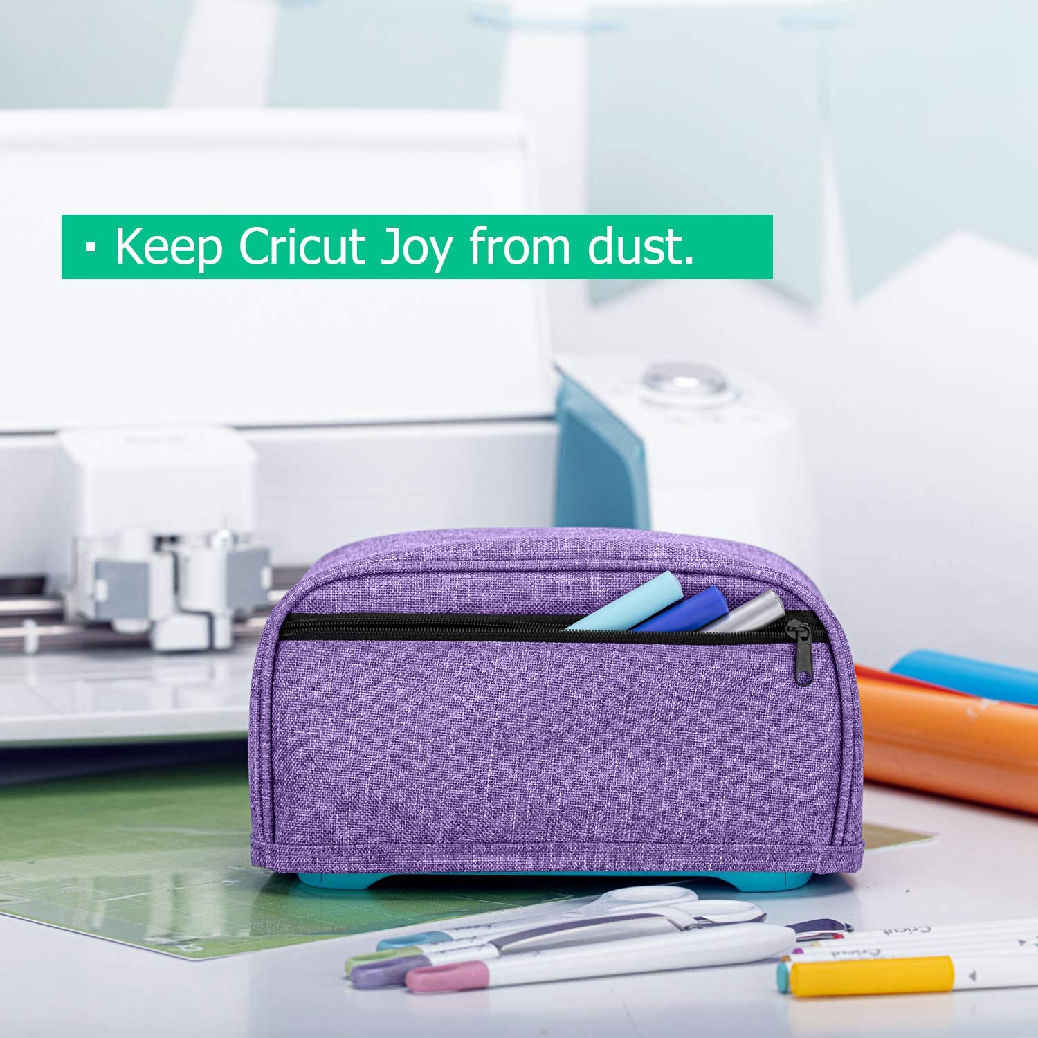 Heavy Duty Canvas Cover with Zipper Pocket and Wipe Clean Liner Yarwo Dust Cover Compatible with Cricut Joy Tree