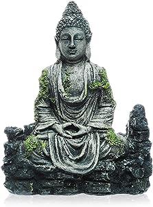 Saim Retro Buddha Aquarium Decorations Resin Fish Tank Buddha Sitting Statue Ornament for Aquarium Pet Accessories Landscaping Decor
