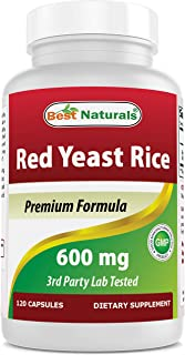 Best Naturals, Red Yeast Rice, 600 mg capsules, 120 Capsules, 2 capsules per serving/1200mg per serving