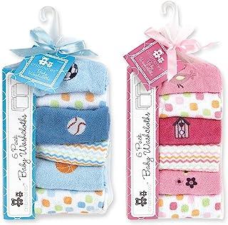 Regent Baby Crib Mates Wash Cloths, Blue/Pink, 6 Count