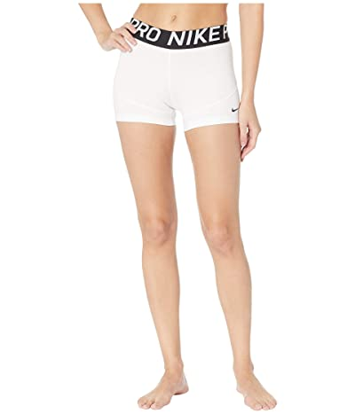 Nike Pro Shorts 3 (White/Black) Women