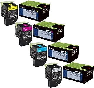 Lexmark 80C1HC0, 80C1HK0, 80C1HM0, 80C1HY0 High Yield Toner Cartridge Set