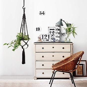 Mkono Wall Hook Hanging Plant Bracket Decorative Straight Plant Hanger for Bird Feeders, Planters, Lanterns, Wind Chi...