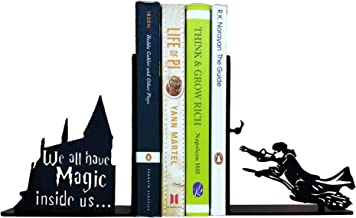 HeavenlyKraft Decorative Metal Bookend, Non Skid Book End, Book Stopper for Home/Office Decor/Shelves, 5.9 X 4.72 X 3.14 Inch Per Piece Weight 2.6 Pounds per Pair