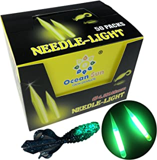 QualyQualy Fishing Glow Sticks for Soft Baits Worms Jig Tails Inserts, Sharp Pointed Needle Light Sticks for Soft Plastic Fishing Lures,Fishing Glow Sticks 100 Pcs 20 Pcs