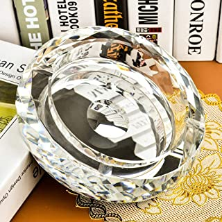 Scyhg2019 Crystal Ashtray Creative Fashion Personality Ornaments Good Gift European Luxury Style (Color : Silver, Size : 15cm)