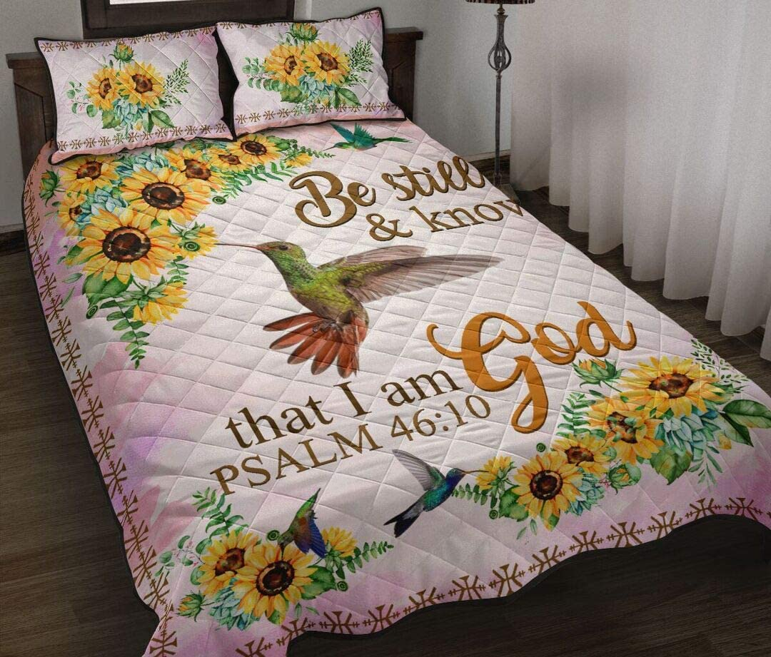 Personalized Hummingbird Quilt Sunflower Be Free Shipping Cheap Bargain Gift and Attention brand Still Kn