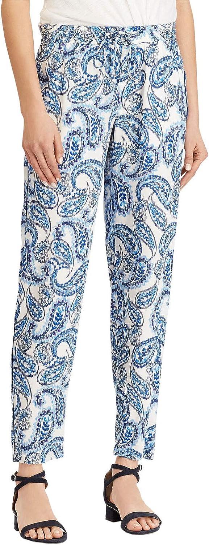LAUREN RALPH LAUREN Women's Paisley Patterned Skinny Pants