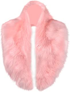 Extra Large Men Women's Faux Fur Collar Scarf for Winter Coat