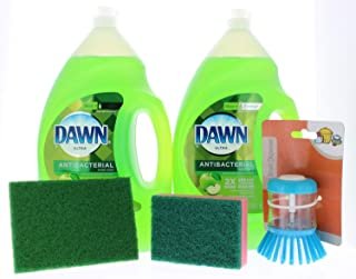2 Pk Of 56fl oz (112fl oz total) Antibacterial Dish Soap With Assorted Dishwashing Bundle