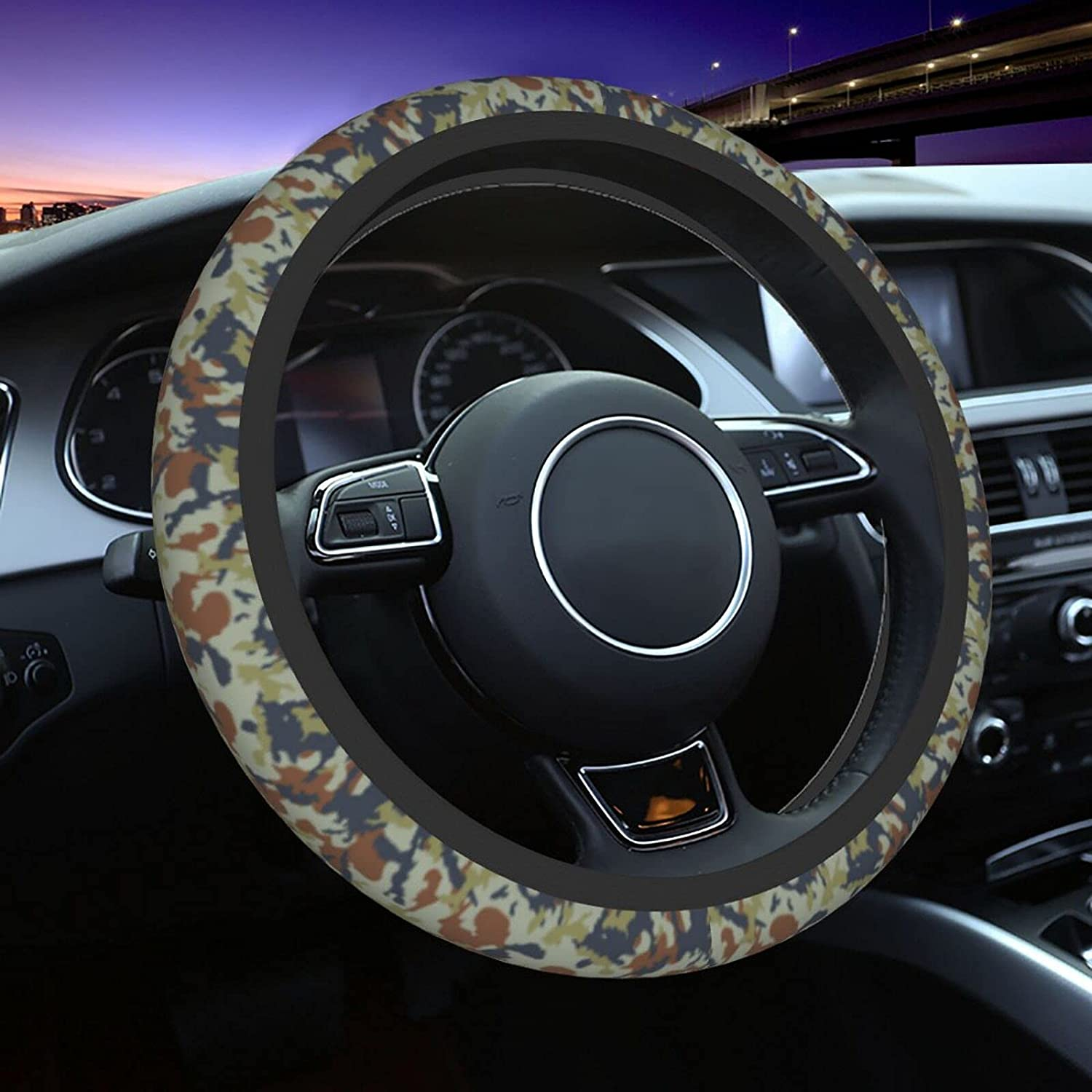 Military Camouflage Car SEAL High quality limited product Steering Wheel Cover I Universal 15 Fit
