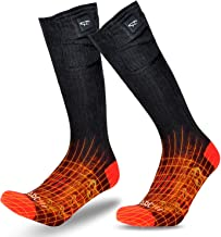 BARCHI HEAT Heated Socks Men Women,12V 7.4V Electric Rechargeable Battery Motorcycle Socks,Winter Snow Skiing Cotton Socks,Foot Feet Warmers for Riders Bikers,Support Powered by Moto Battery