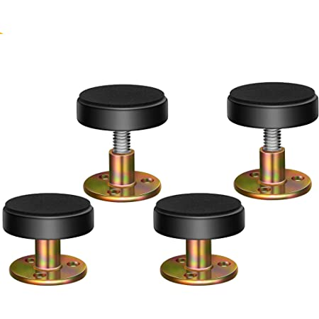 33-44mm Rebecca Adjustable Bed Fasteners Threaded Bed Frame Anti-Shake Tool Telescopic Support for Room Wall Three Size 4Pack