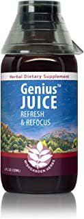 WishGarden Herbs Genius Juice - Herbal Mental Clarity Tincture and Brain Booster Supplement with Gotu Kola and Gingko Leaf...