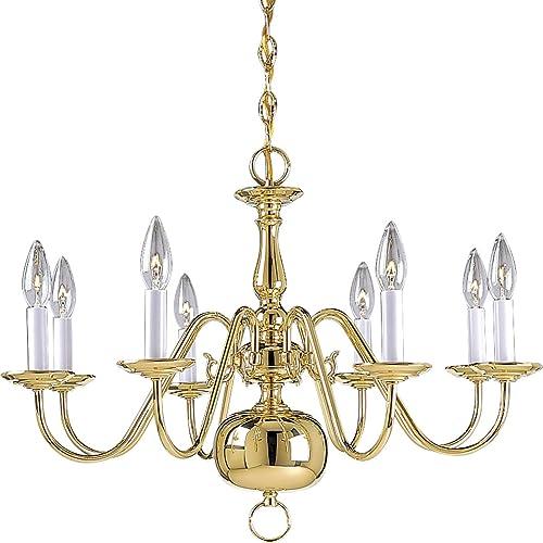 Progress Lighting P4357-10 Chandelier Light, 26-Inch Diameter x 18-Inch Height, Polished Brass