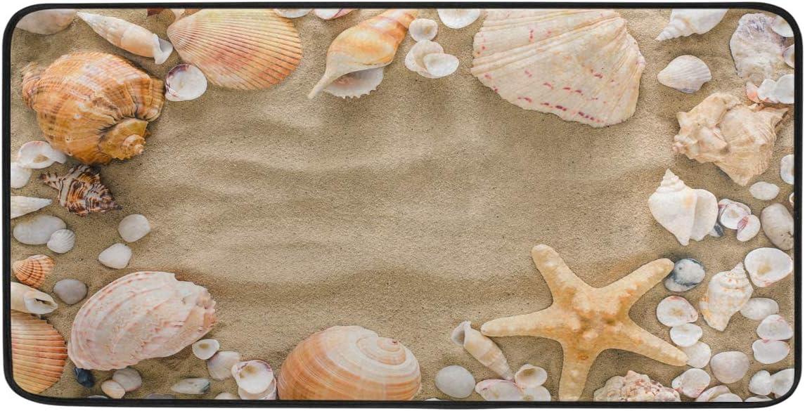 AGONA Anti Fatigue Kitchen In a popularity Mat Starfish Pebbles Beach Max 44% OFF Seashells